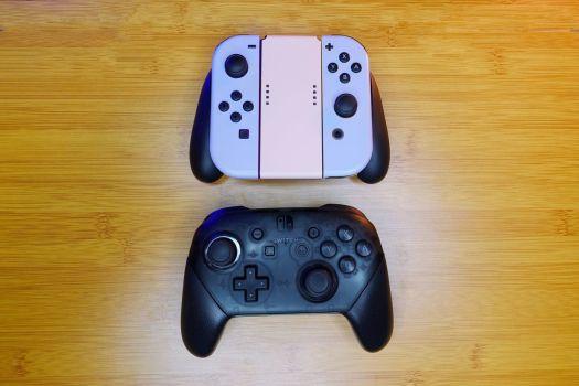 The Joy-Con grip versus the Pro Controller