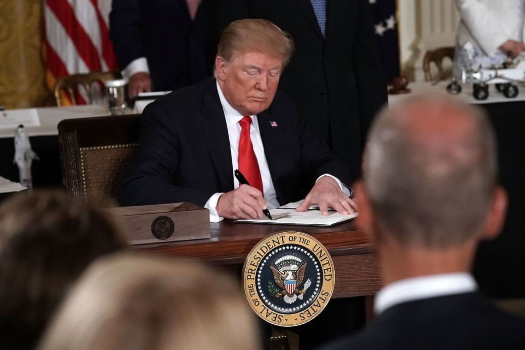 President Trump Meets With National Space Council At White House