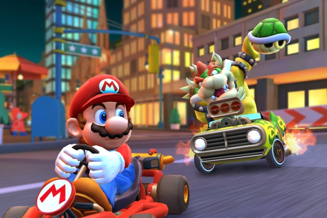 Mario and Bowser in Mario Kart Tour