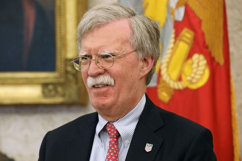 National Security Adviser John Bolton doesn't want President Donald Trump to sign a peace declaration.