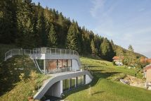Swooping French Home Partially Built Hillside