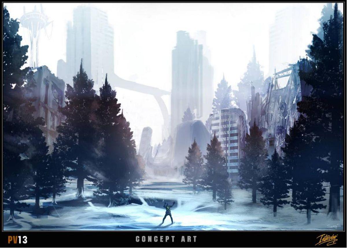 Project V13 concept art, snow city