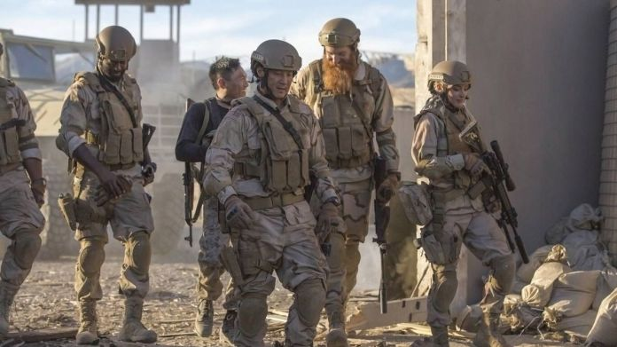 a group of soldiers in rogue warfare: death of a nation