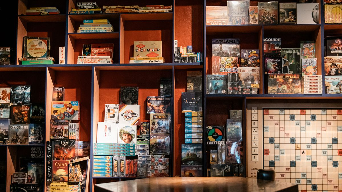 Inside Ferndales New Board Game Bar and AxThrowing Venue  Eater Detroit