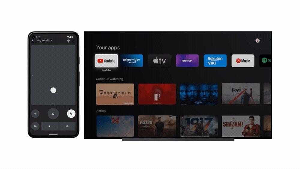 Điều khiển từ xa Android TV trong Android 12