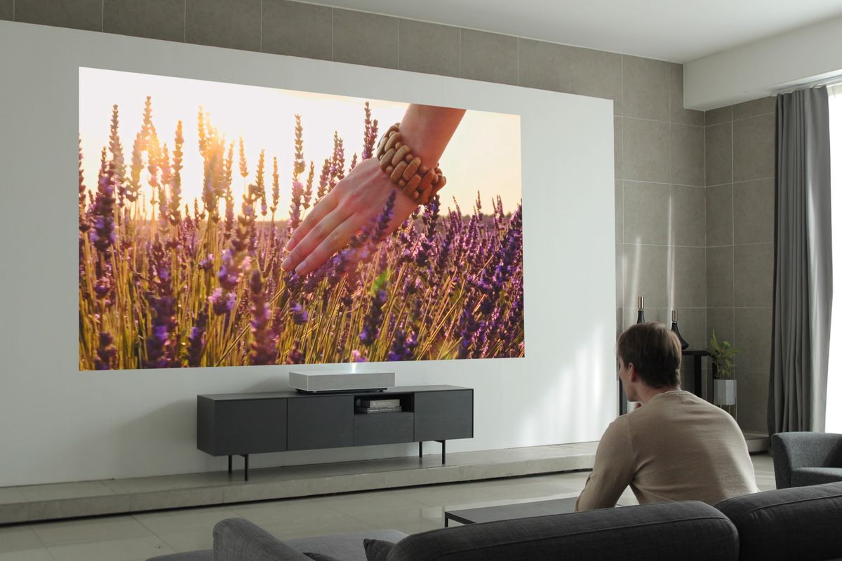 LG's second-gen 4K laser projector works from just two inches away from your wall - The Verge
