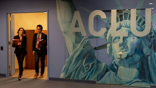 a look inside the aclu offices in the fight