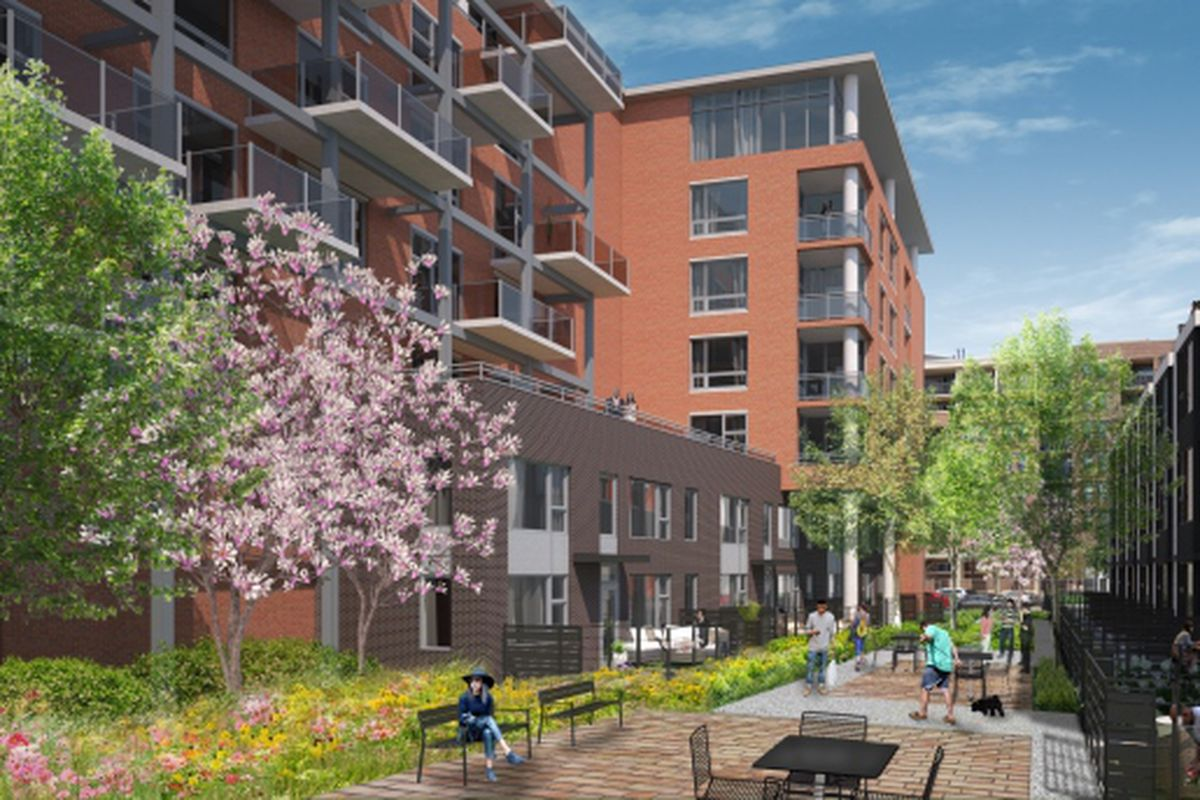 Midrise apartments townhomes planned for Oak and
