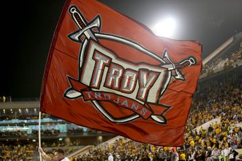Image result for battle of the belt Troy Trojans vs South Alabama Jaguars