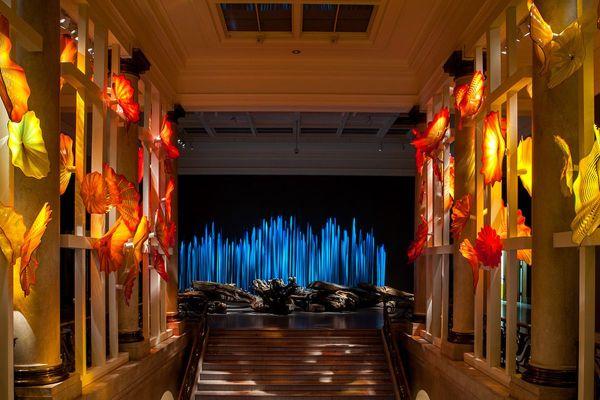 Montreal Museum Of Fine Arts Transformed Giant Glass Flower Garden - Verge