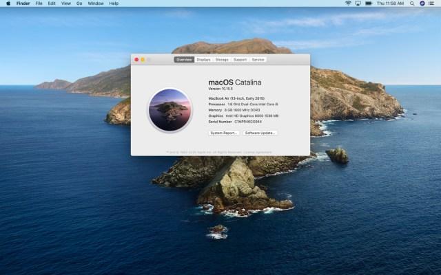 Über dieses Mac-Fenster