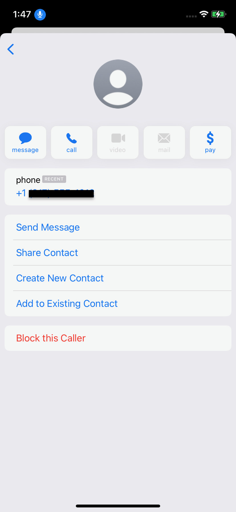 """At the bottom of the page, select """"Block this Caller."""""""