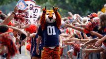 Auburn Football Cheerleaders Mascot