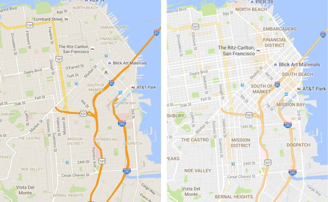 Google Maps Update Brings Cleaner Look And New Areas Of