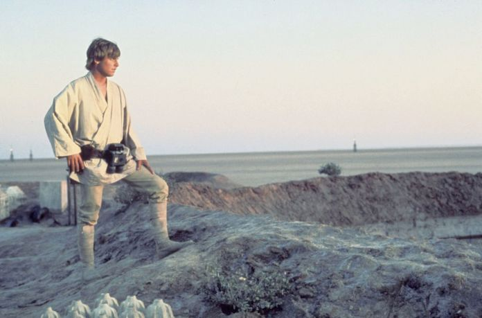 Star Wars: A New Hope - Luke Skywalker standing on Tatooine