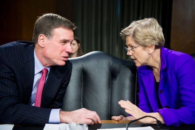 Sen. Mark Warner and Sen. Elizabeth Warren