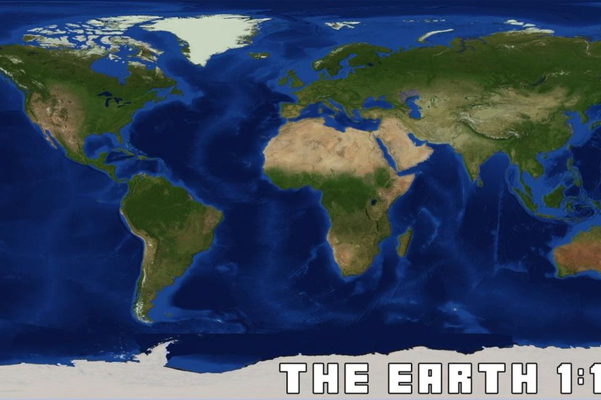 Re Creating Earth In 11500 Scale In Minecraft The Verge