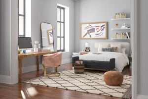 apartment carrie bradshaw backgrounds bedroom interior modsy living today carries desk bed videochiamate sfondi apartments would york seinfeld nel homes