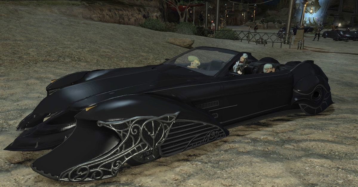 Final Fantasy 15s Regalia Car Is Now In FF14 And Everything Is Chaos Polygon