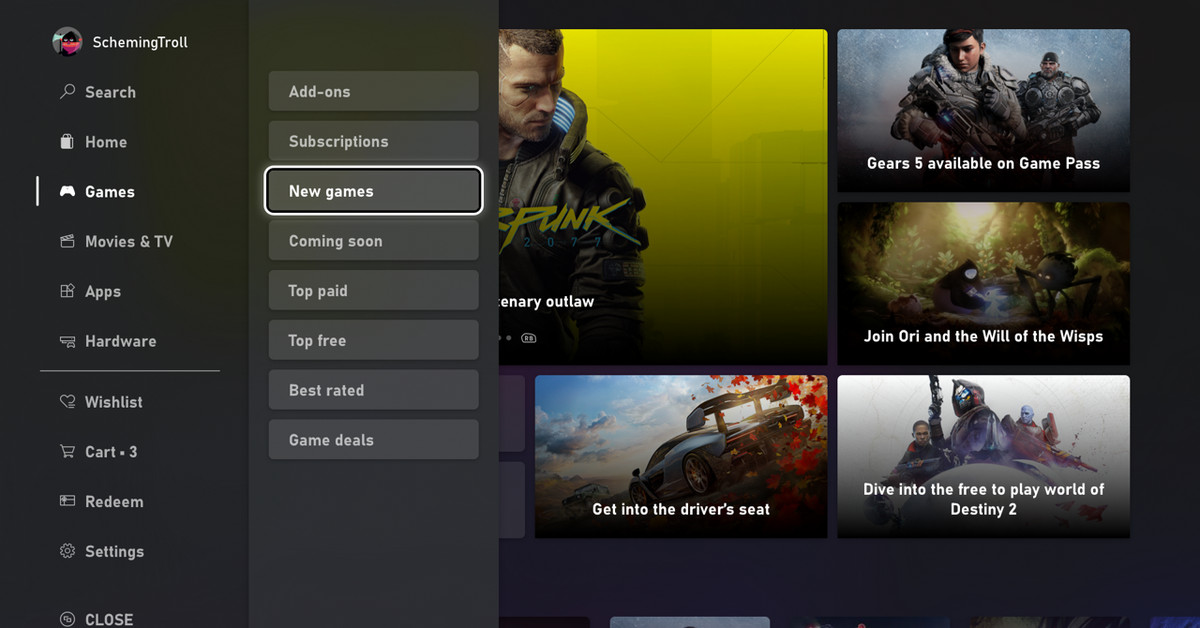 Microsoft reveals redesigned, much faster Xbox store
