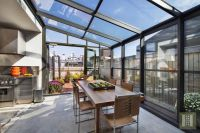 Austere Upper West Side penthouse with dining solarium ...