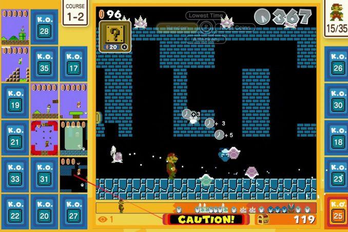 Dieses Bild zeigt ein Level aus Super Mario Bros. 35