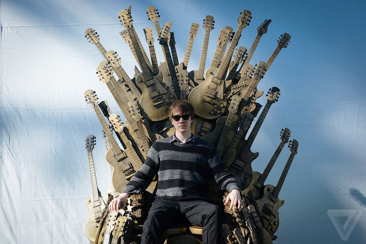 game of thrones chair for sale folding porch chairs gibson built 39 iron throne out guitars
