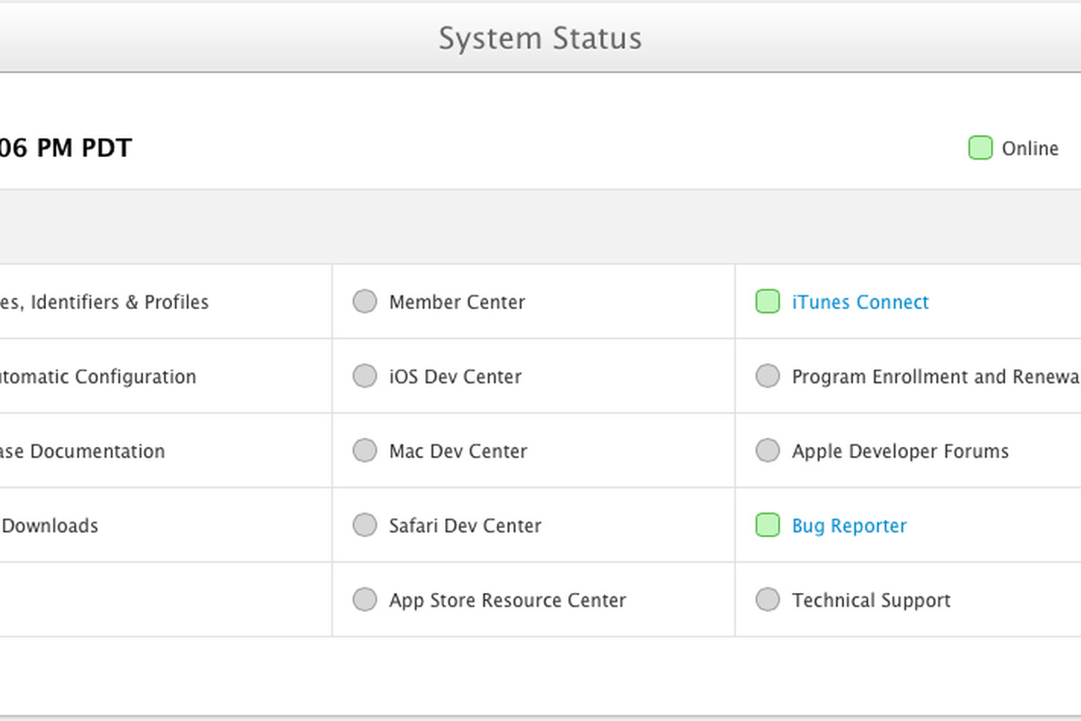 Apple launches status page for dev portal as it recovers