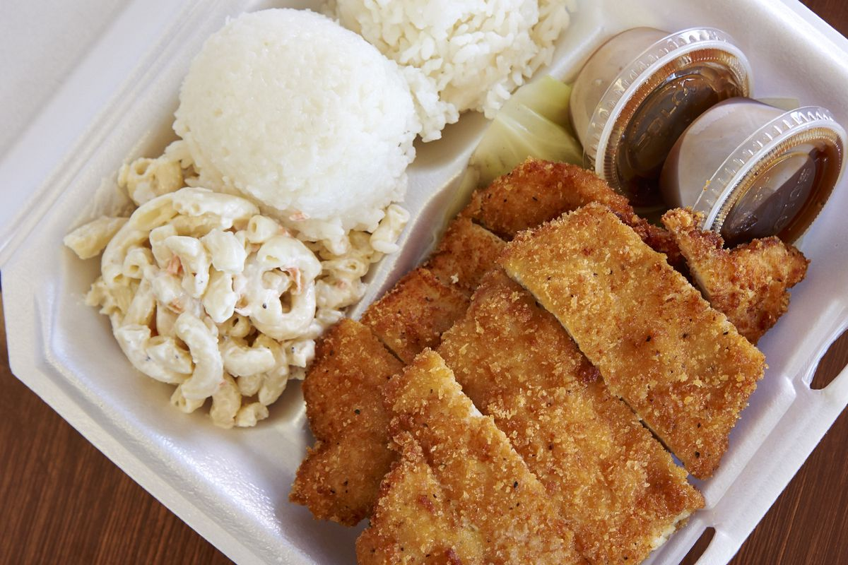 hight resolution of a typical hawaiian plate lunch lori bandi