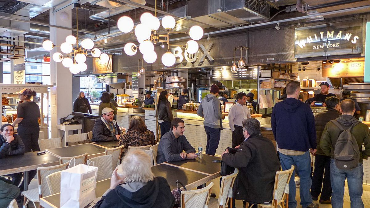 Blitzing Through City Kitchen Times Squares Newest Food Court  Eater NY