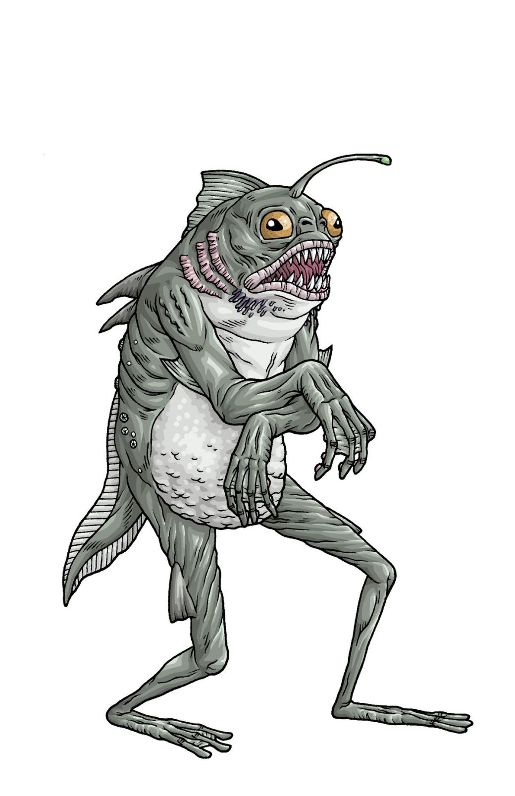 HP Lovecraft's The Deep One from The Shadow Over Innsmouth
