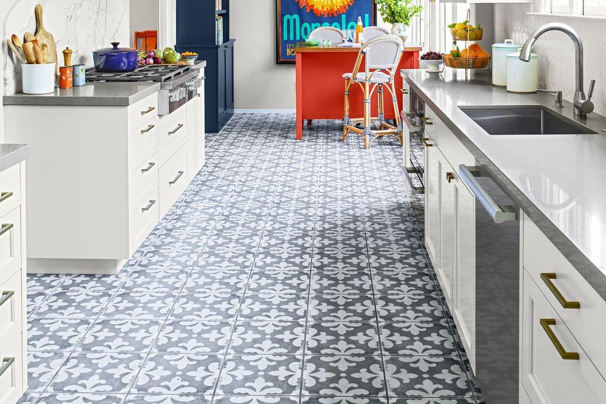 Kitchen Floor Tiles Design   Hardwood   Victorian   Green   Johnson