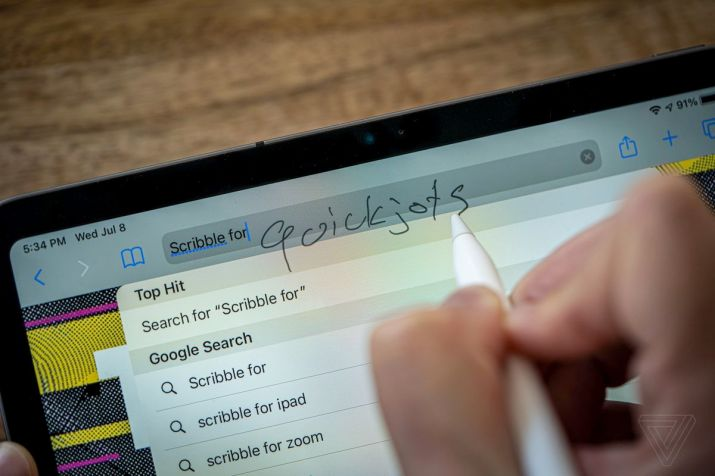 Scribble lets you jot down quick text, but it's not great for longer writing
