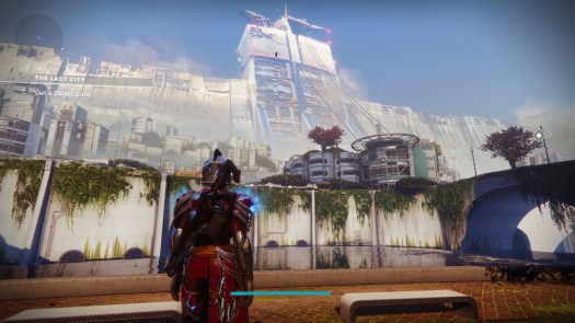 Destiny 2 view from the Last City