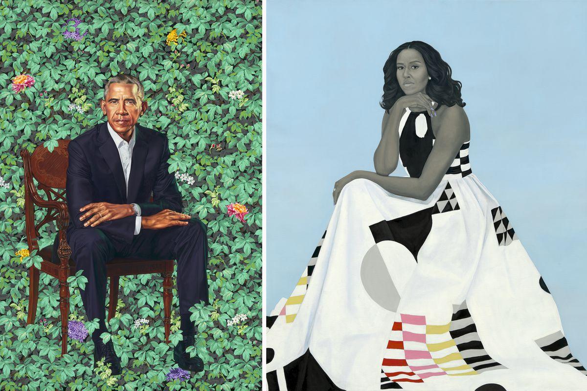 the obamas presidential portraits