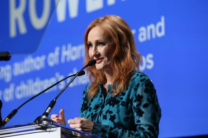 J.K. Rowling speaking at the Robert F. Kennedy Human Rights Hosts 2019 Ripple Of Hope Gala & Auction