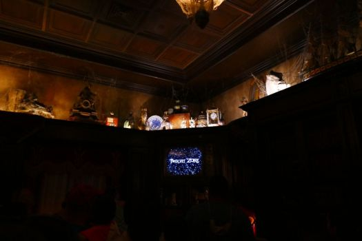 The room in Tower of Terror where you're shown the story