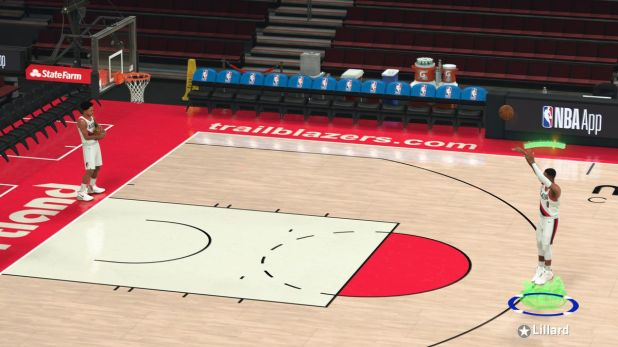 Cover Star Damian Lillard Hitting Shot Stick in NBA 2K21