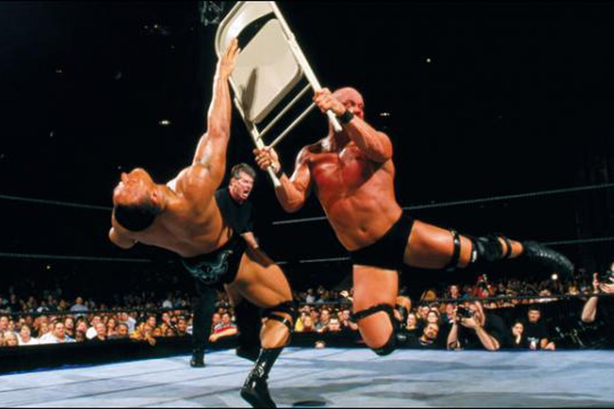 stone cold steel chair gif stair lifts wrestlemania 17 results retro live blog steve