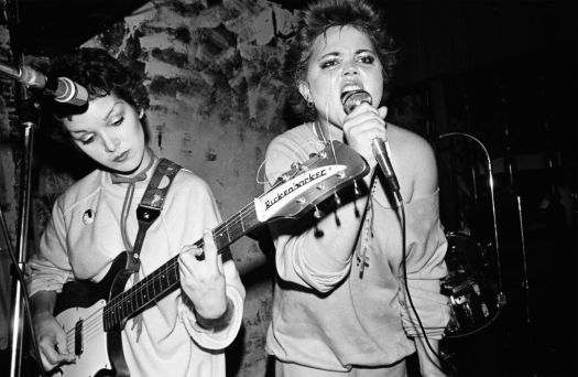 The Go-Go's in concert, in black and white