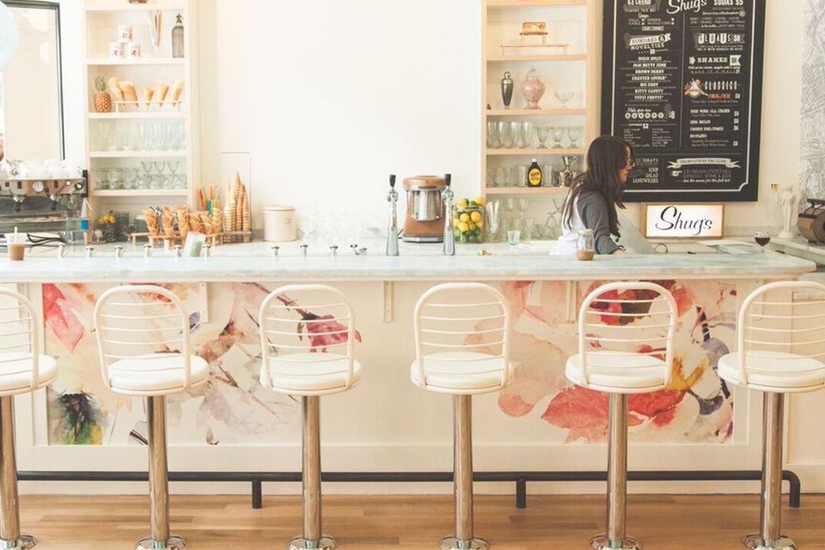 Updated Radically Retro Ice Cream Shop Opens Downtown