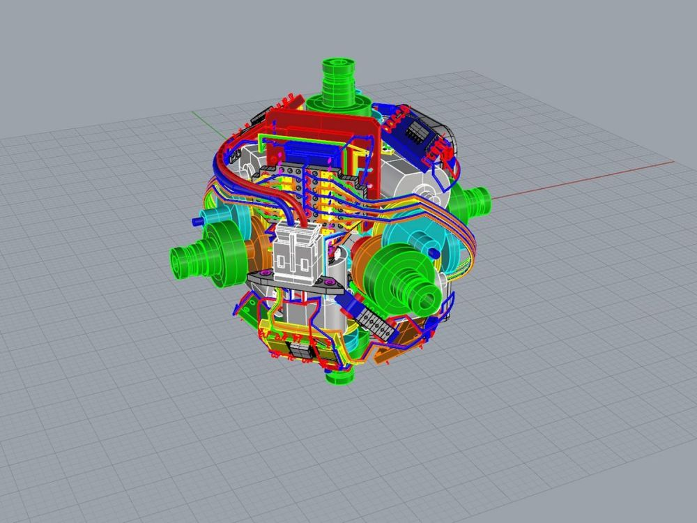 medium resolution of  self solving rubik s cube image human controller a 3d mock up of the motors image human controller