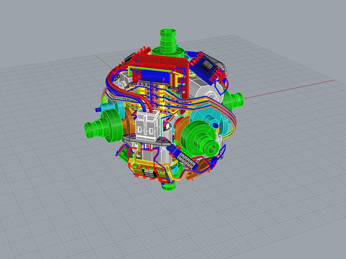 hight resolution of  self solving rubik s cube image human controller a 3d mock up of the motors image human controller