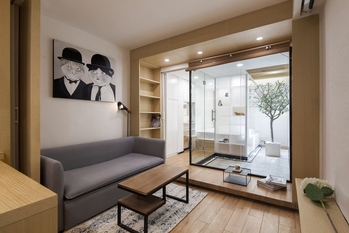 Tiny apartment designed for two people 51 cats in