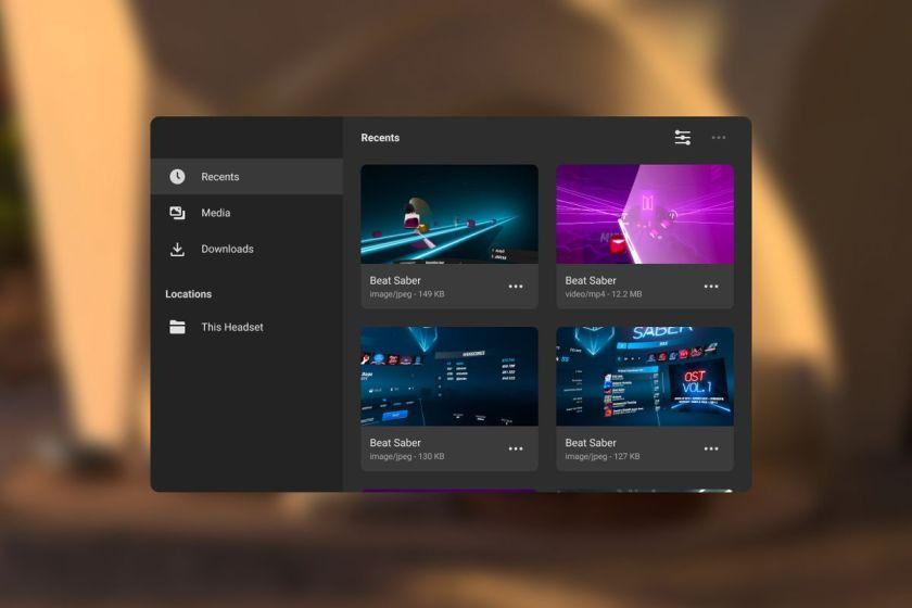 Oculus files app
