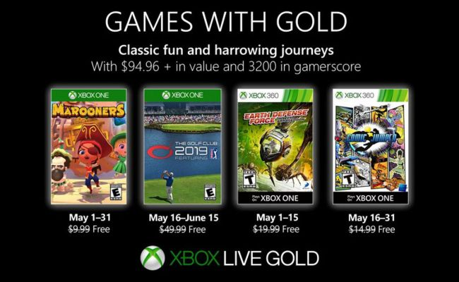 Xbox Games With Gold May 2019 Free Games Announced Polygon