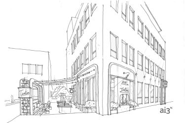 restaurant exterior bar tin french aix wine patio left right renderings down chef stockyards opening
