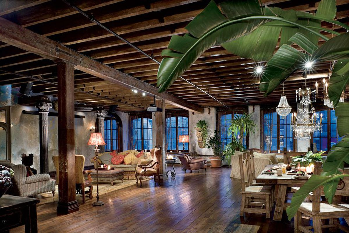 Gerard Butlers rustic Chelsea loft with baroque flair wants 6M  Curbed NY
