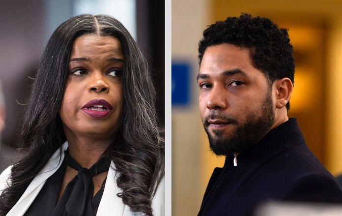 Cook County attorney, Kim Foxx, left; The actor Jussie Smollett, right. Photo file.