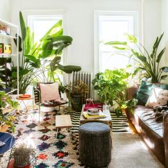 Living Room Furniture Brooklyn Realty Chicago Inside Creative Director Dan Pelosi S Colorful Home Curbed Ny In The A Leather Sofa By Restoration Hardware Sits Atop Layered Rugs Armchair Crafted From Green Painted Metal And Straps Is